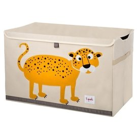 『SPROUTS03-1』加拿大 3 Sprouts 大型玩具收納箱-小花豹【超大容量造型玩具箱,可摺疊收納,加蓋防塵】【保證公司貨●品質保證】