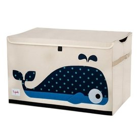 『SPROUTS03-2』加拿大 3 Sprouts 大型玩具收納箱-小鯨魚【超大容量造型玩具箱,可摺疊收納,加蓋防塵】【保證公司貨●品質保證】