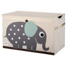 『SPROUTS03-3』加拿大 3 Sprouts 大型玩具收納箱-小象【超大容量造型玩具箱,可摺疊收納,加蓋防塵】【保證公司貨●品質保證】