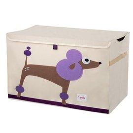 『SPROUTS03-4』加拿大 3 Sprouts 大型玩具收納箱-貴賓狗【超大容量造型玩具箱,可摺疊收納,加蓋防塵】【保證公司貨●品質保證】