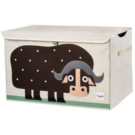 『SPROUTS03-6』加拿大 3 Sprouts 大型玩具收納箱-小水牛【超大容量造型玩具箱,可摺疊收納,加蓋防塵】【保證公司貨●品質保證】