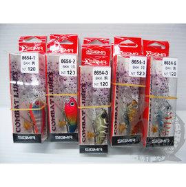◎百有釣具◎SIGMA 8654 假餌路亞 BKK鉤 4.0g/45mm 顏色隨機出貨