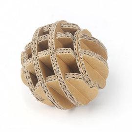 ~DIY紙球~ 5入 組 勞作 繪畫 療癒 線稿 贈品 童玩 瓦楞紙 寵物玩具 婚禮小物