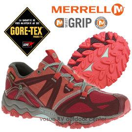 【美國 MERRELL】女新款 Grassbow Sport Gore-Tex 專業防水透氣登山健行鞋_輕量級/M-Select GRIP鞋底.抗菌.避震.耐磨_紅色 ML32520