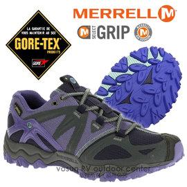 【美國 MERRELL】女新款 Grassbow Sport Gore-Tex 專業防水透氣登山健行鞋_輕量級/M-Select GRIP鞋底.抗菌.避震.耐磨_藍紫色 ML32518
