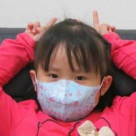 ~雨晴牌-超立體3D口罩~ ~兒童-藍色火星寶寶~ ^(A級高效能^) 舒適透氣 新素材耳