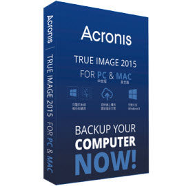 Acronis True Image 2015 for PC and Mac ~ 3用戶版
