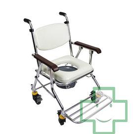 ~~~~福健佳健康 館~均佳 JCS~208 鋁合金輪可收洗澡便器椅