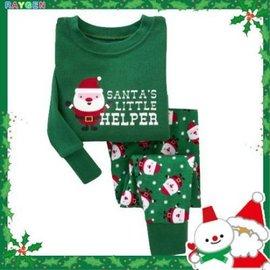 童裝 聖誕 家居服 套裝 男女童 長袖純棉內衣褲 睡衣 聖誕滿版【HH婦幼館】