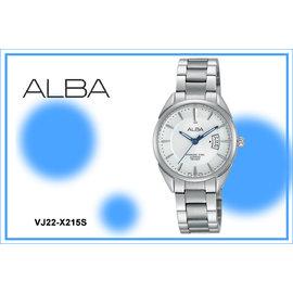 ~時間道~〔ALBA~錶〕簡約藍寶石水晶玻璃腕錶^(小^) – 白面鋼^(VJ22~X21