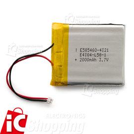 聚合物鋰電池~2000mAh #160 3.7V ~ 鋰電池 可充電電池 Polymer