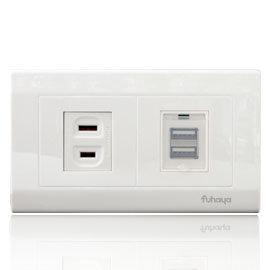 ~FUHAYA~壁上型USB充  2A大電流輸出  AC插座不妨礙家電  支援各類平板╱智