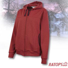 【瑞多仕-RATOPS】女款 連帽保暖夾克.禦寒外套/質輕保暖.舒適透氣.易清洗_DB5948 酒紅褐色