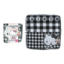 ~Amuzinc酷比樂~ 用品 PORCH 可吸水毛巾袋 Kitty凱蒂貓 黑白格紋
