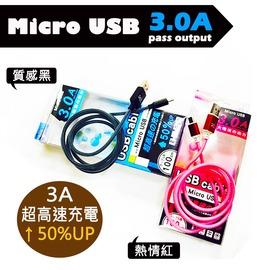 ~阿莎  布魯日式 館~3A極速傳輸線 快充線 3A USB3.0 micro usb 安