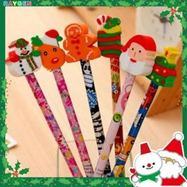 文具 聖誕節 交換禮物 創意兒童文具 學生獎品 鉛筆加橡皮擦 造型鉛筆橡皮擦【HH婦幼館】