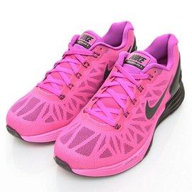 NIKE~LUNARGLIDE 6 女慢跑鞋654434501~桃紅黑