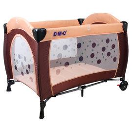 EMC 嬰幼兒安全遊戲床 (平安藍/時尚咖)