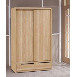 ~奇威居家 館 ~~E16112~3~卡妮亞4尺推門衣櫃 衣櫥  傢俱 請洽詢免 專案