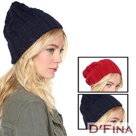 極簡 螺紋護耳毛帽 ^(2色^) ~DFina ~