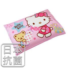 枕頭 兒童枕~抗菌乳膠枕 精梳棉 HelloKitty甜蜜夥伴~粉 美國棉 品牌 鴻宇