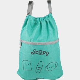 Nicopy~洗水尼龍背包^(綠色^)