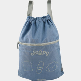 Nicopy~洗水尼龍背包^(淺藍色^)