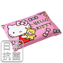 枕頭 兒童枕~抗菌乳膠枕 精梳棉 Hello Kitty哈尼小熊~粉 美國棉 品牌^~鴻宇
