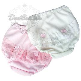 雙基兒童女孩內褲三角褲貼身衣物蕾絲蝴蝶結粉白440672通販部