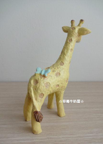 草莓牛奶屋☆日本进口乡村可爱动物摆饰(l尺寸/长颈鹿/小毛驴/大象)