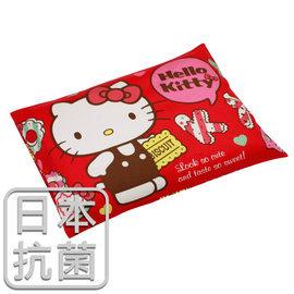 枕頭 兒童枕~抗菌乳膠枕 精梳棉 HelloKitty繽紛甜心~紅 美國棉 品牌^~鴻宇^
