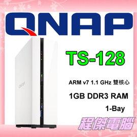 ~高雄程傑電腦~ QNAP 威聯通 ~ TS~128 ~ 伺服器 硬碟 雲端硬碟 1~Ba