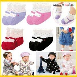 四色點點造型寶寶假鞋襪 短襪 襪子【HH婦幼館】