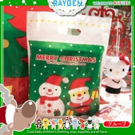 聖誕老公公雪人塑料袋 挖口提袋 禮品包裝袋 單售【HH婦幼館】