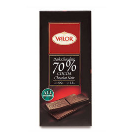 Valor70^%純黑巧克力片