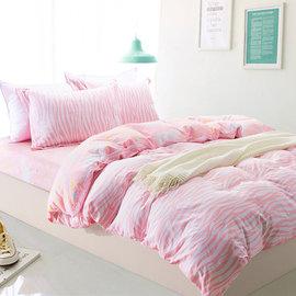 床包組 雙人加大~100^%純棉兩用被床包組 獨角獸的神祕夢境^~鴻宇^~~ML1332