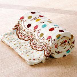 Lapin 閃耀音符 四季法蘭絨毯^(150x190cm^)