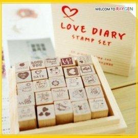 實用可愛日記本DIY裝飾印章25個套裝-LOVE DIARY【HH婦幼館】