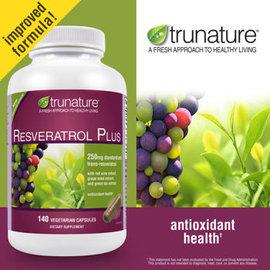 美國trunature® Resveratrol Plus 高含量白藜蘆醇250毫克,14