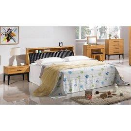 ~奇威居家 館 ~~E16135~6 7~優植6尺雙人床^(床頭箱型^) 床頭箱可收納