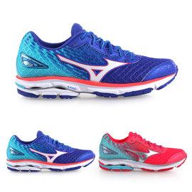 MIZUNO 女慢跑鞋 WIDE WAVE RIDER 19(免運 寬楦 路跑 美津濃【02015221】≡排汗專家≡
