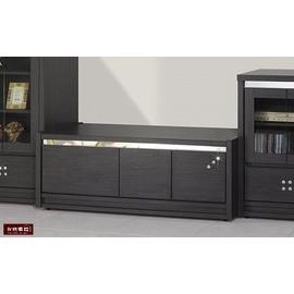 ~台北家福~^(FS947~42^)星鑽4.2尺鐵刀木矮櫃 電視櫃