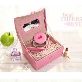 5Cgo~ 七天交貨~45143491471 飾品盒 公主歐式首飾盒首飾收納盒化妝盒帶鏡戒