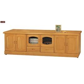 ~台北家福~^(FY146~637^)正赤陽木7尺長櫃 電視櫃傢具