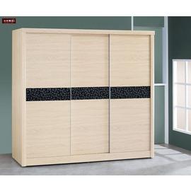 ~台北家福~^(FY19~77^)夏慕浮雕梧桐木7^~7尺衣櫥 衣櫃傢具