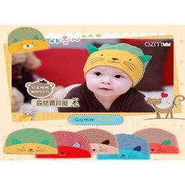 森林寶貝屋^~韓款^~幼兒3D立體小貓咪 帽^~寶寶卡通 帽^~兒童可愛 帽^~條紋帽^~