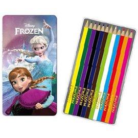 【金玉堂文具】冰雪奇緣12色鐵盒色鉛筆 2  FROZEN