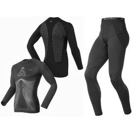 odlo muscle force 款 保暖壓縮衣 褲套裝^(衣褲同 ^)~158102
