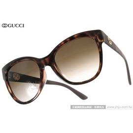 GUCCI 太陽眼鏡 GG3795FS LWFCC (琥珀) 簡約LOGO人氣貓眼款 墨鏡 # 金橘眼鏡