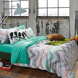 ~Sleep Here睡.這裡~100^%精梳棉雙人加大床包 被套四件組~自由~